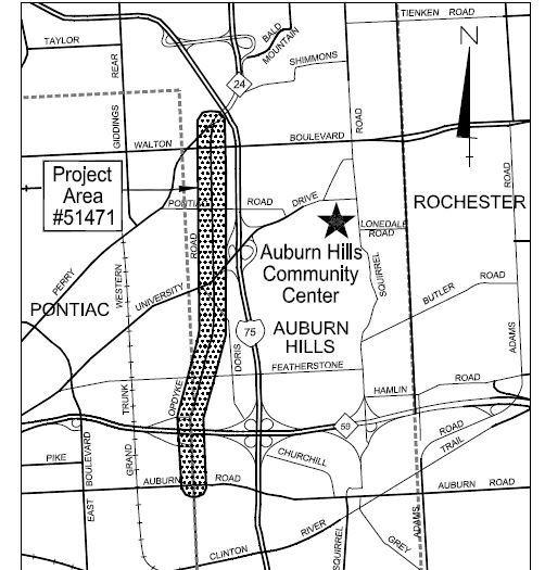 Opdyke Road project map
