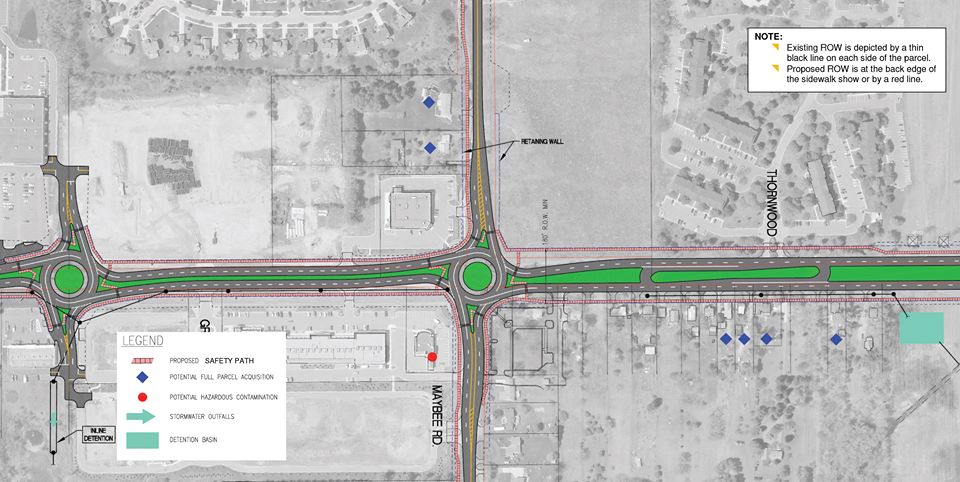 Baldwin Road parital road construction map photo