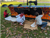 Students Painting the Plow