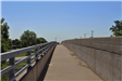 South side of Grand River Avenue walkway before project start