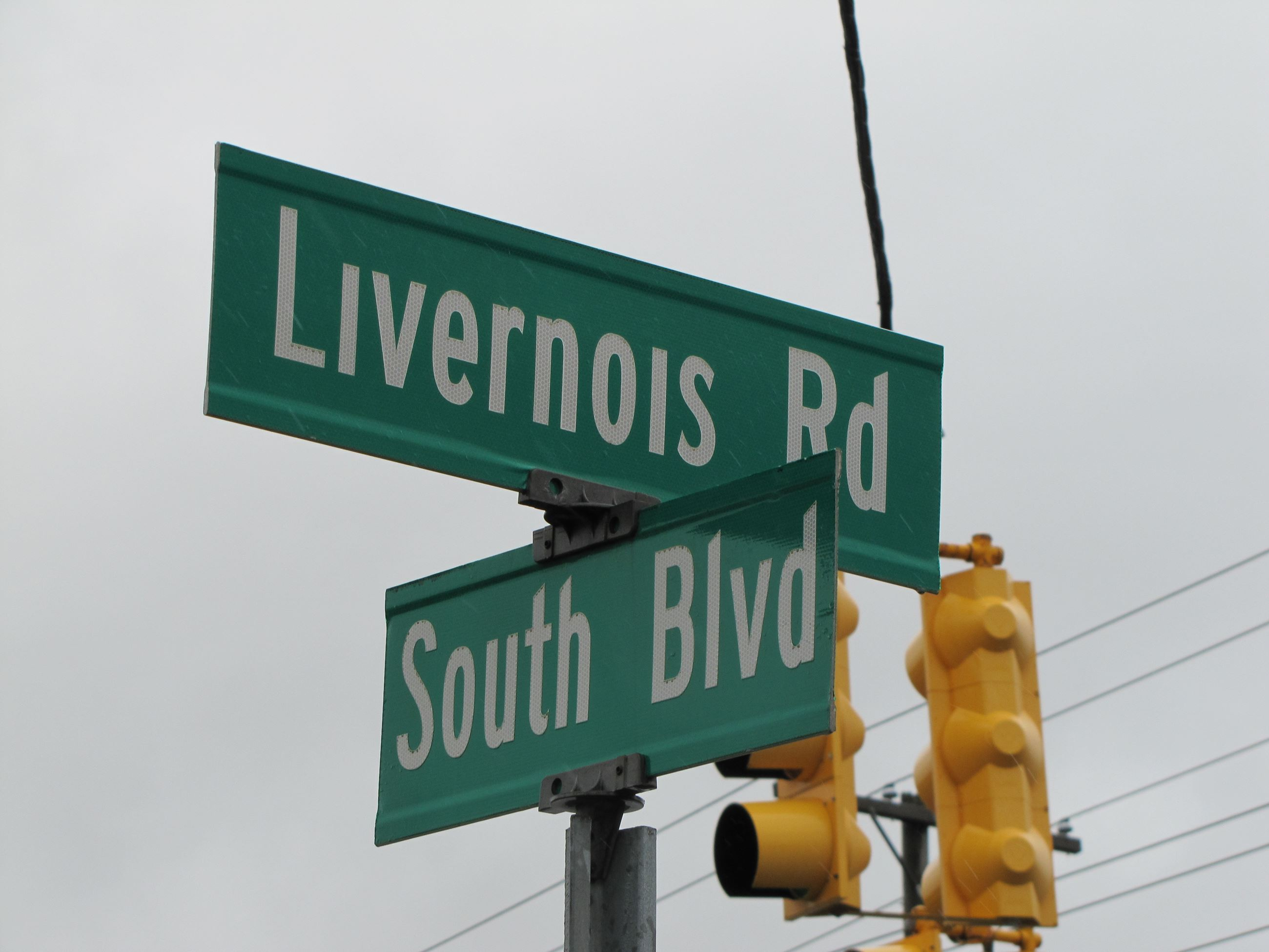 South Blvd/Livernois sign