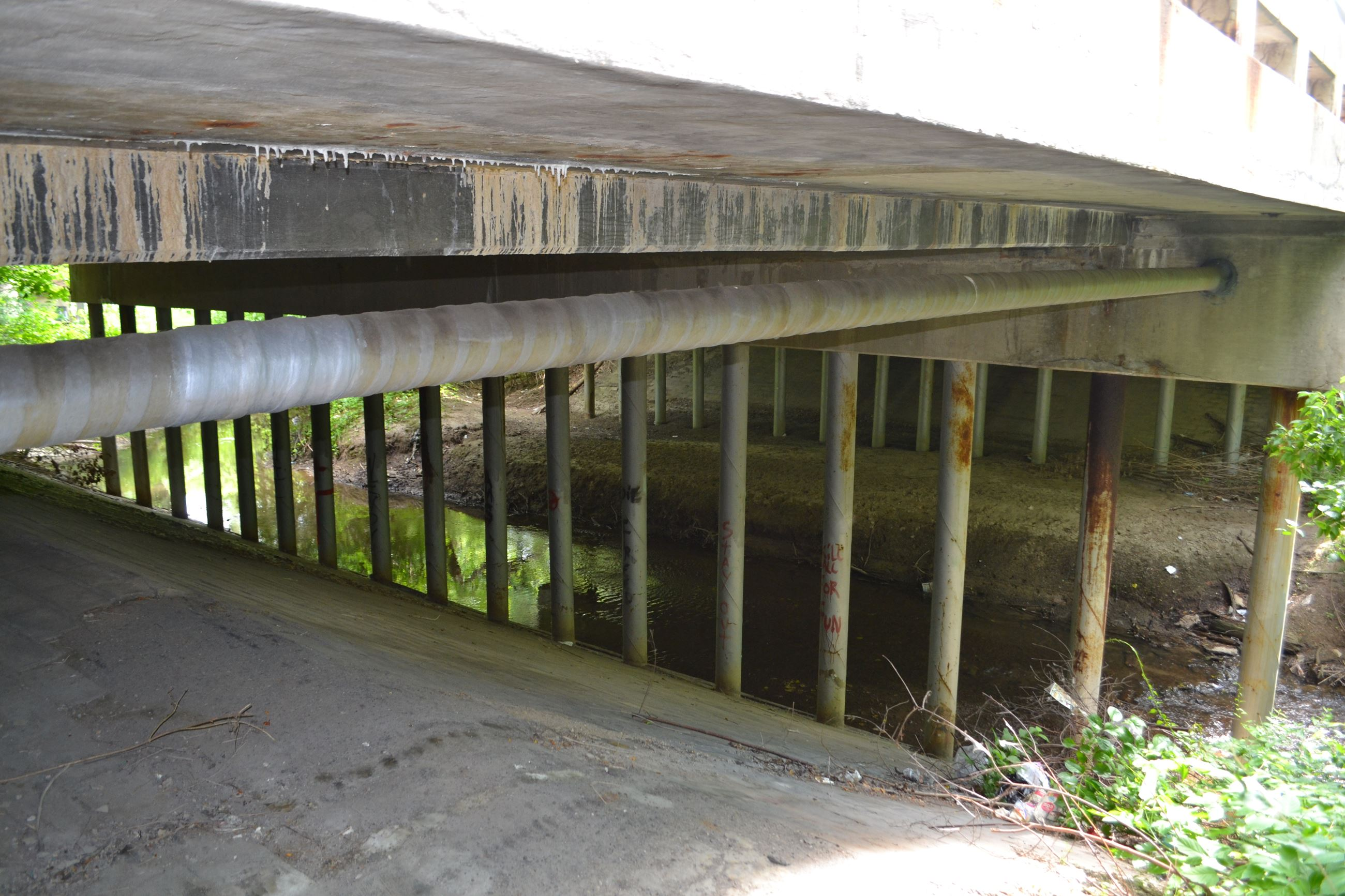 Substructure photo of the 12 Mile Bridge near Telegraph
