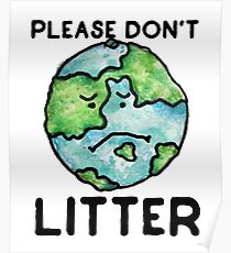 Please do not litter earth banner