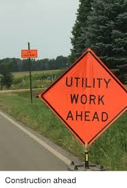 utility work sign