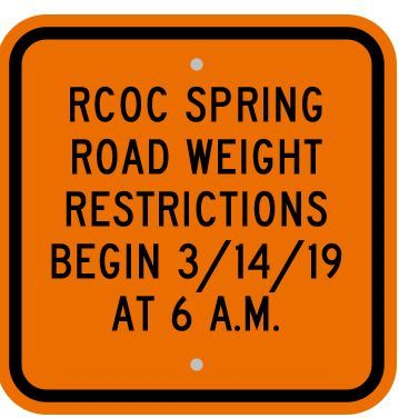 2019 WEIGHT RESTRICTIONS