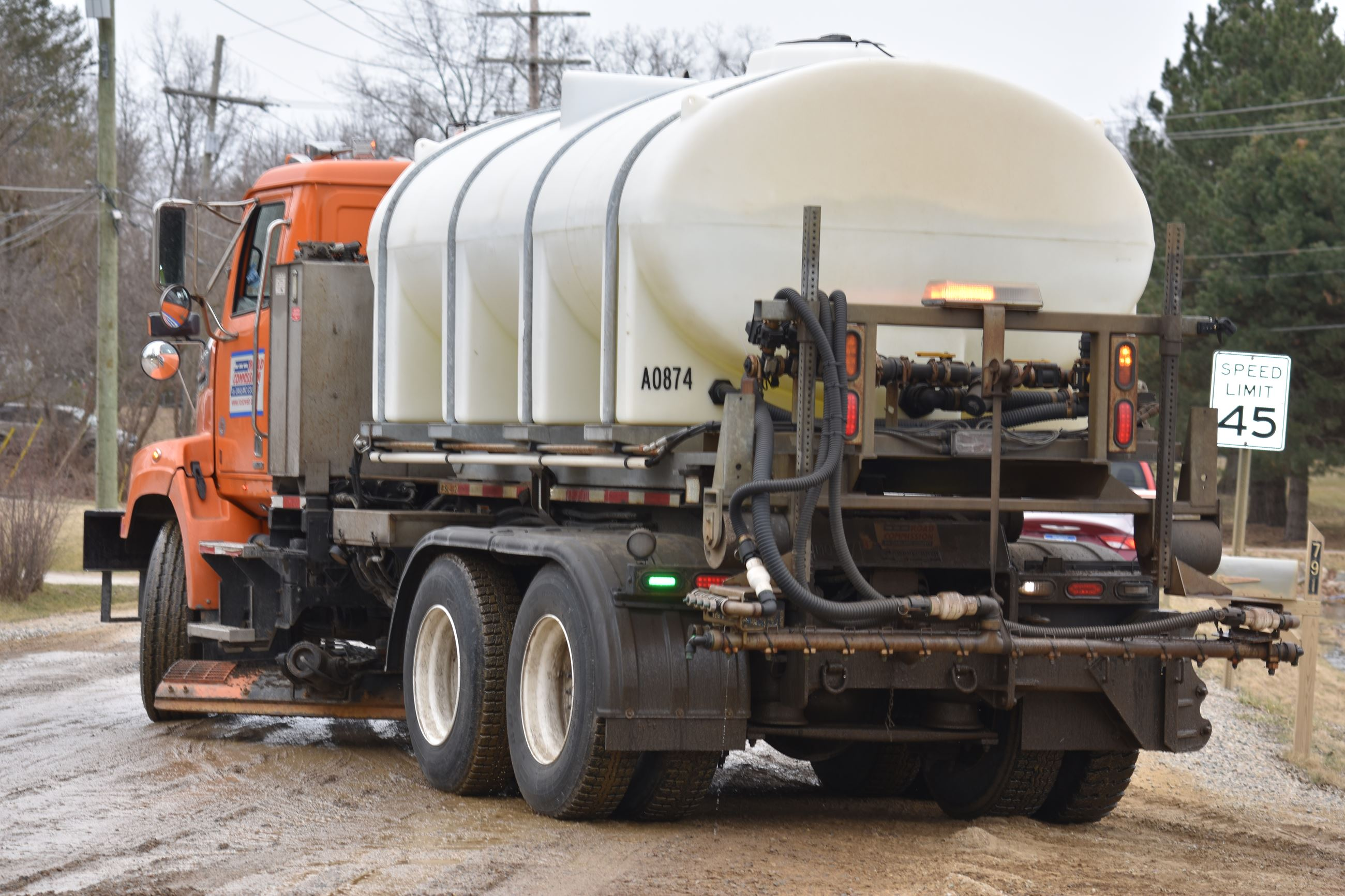 RCOC tanker truck applying brine