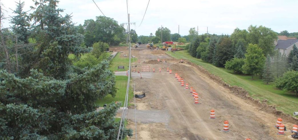 Workzone Camera Image of Adams/Gunn Road construction (camera is located just west of the project on