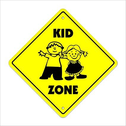 Kid Zone sign