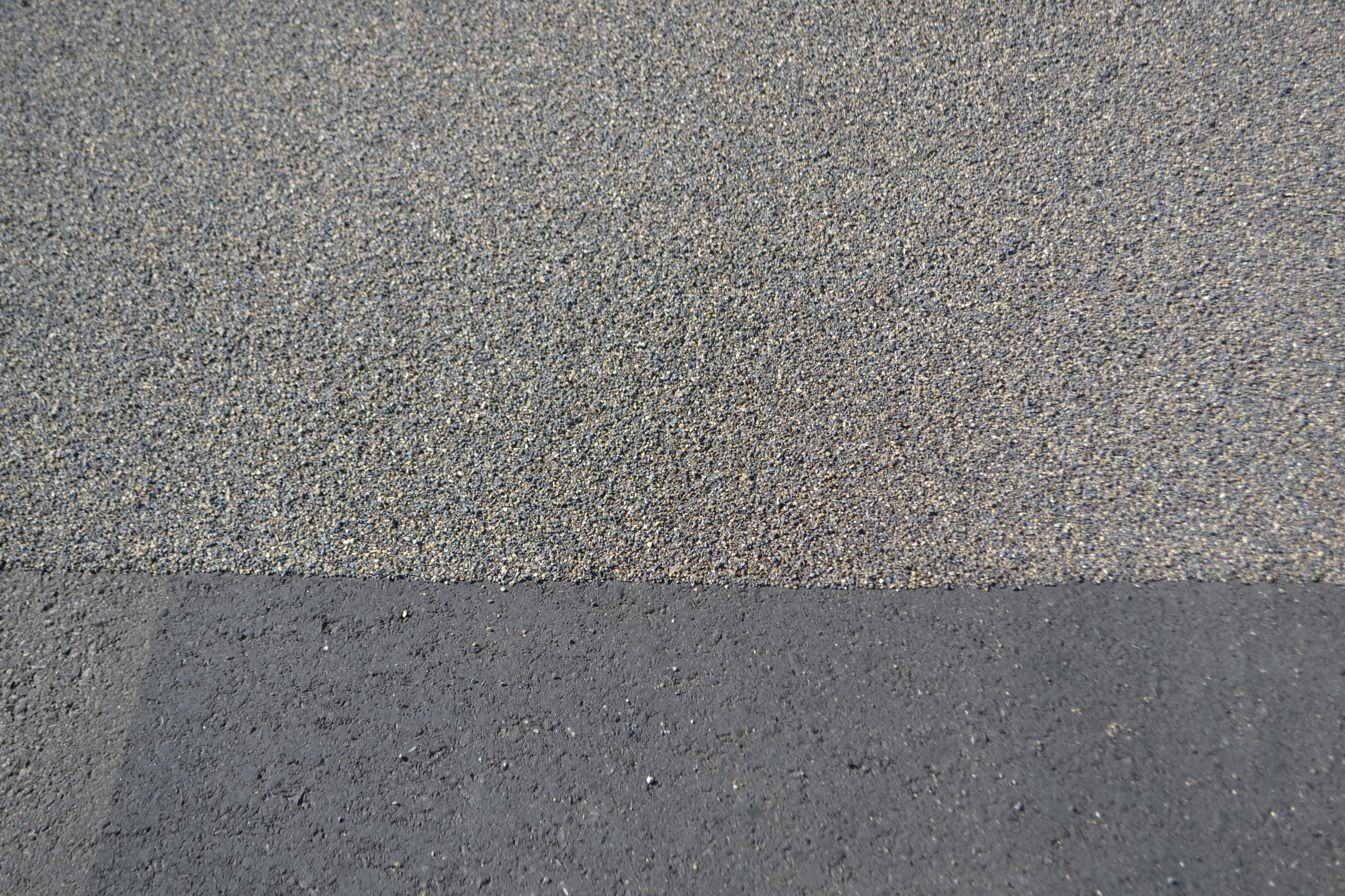 Clarkston Road after the high friction surface control process is complete, photo from 2016