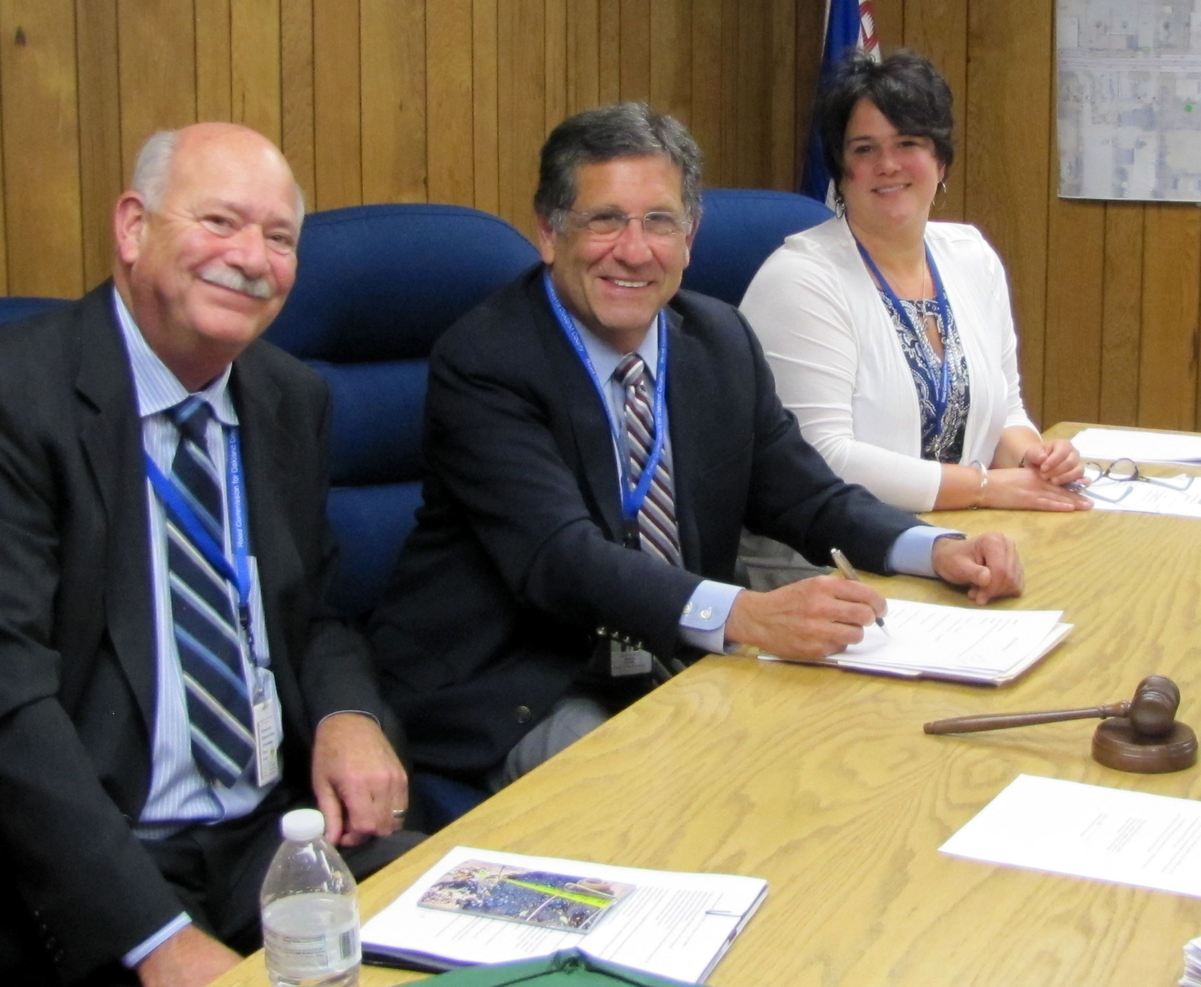 Budget approved.  The RCOC Board approves the FY 2020 budget. Shown are (left to right): Vice Chairm