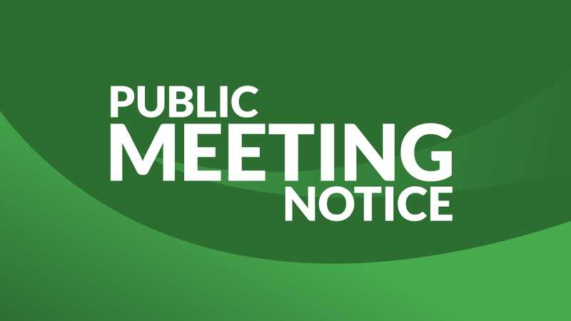 Public Meeting notice image