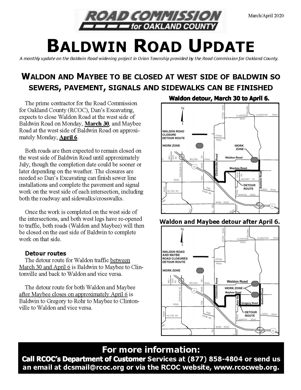 Baldwin monthly newsletter, March 2020